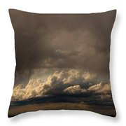 Nebraska Storms A Brewin Throw Pillow