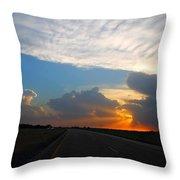 Nebraska Sunset Throw Pillow