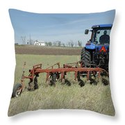 Nebraska Wheat Field Throw Pillow