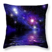 Nebula Reflection Throw Pillow