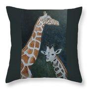 Neck And Neck Throw Pillow