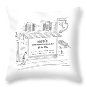 Ned's Incommunicado Bar Advertises A Lack Throw Pillow