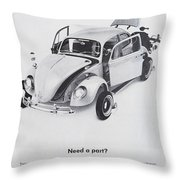 Need A Part? Throw Pillow