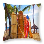 Need A Surfboard Throw Pillow