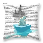 Need More Ice Not Oil Throw Pillow by Sassan Filsoof