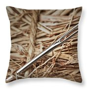 Needle In A Haystack Throw Pillow by Tom Mc Nemar