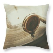 Needle On The Record Throw Pillow