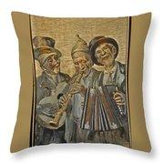 Needlepainting Musicians Throw Pillow