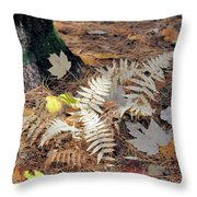 Needles And Leaves Throw Pillow