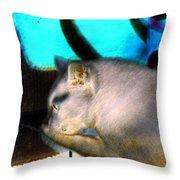 Negative Cat Throw Pillow