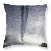 Negative Contrail Throw Pillow