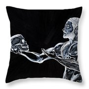 Negative Thoughts Throw Pillow by Edward Fuller