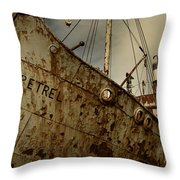 Neglected Whaling Boat Throw Pillow by Amanda Stadther
