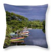 Negril River Throw Pillow