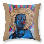 Negrito In Carnival Throw Pillow