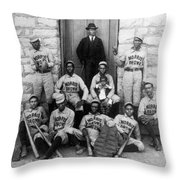 Negro Baseball Throw Pillow