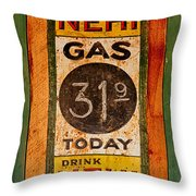 Nehi And Gas Sold Here Throw Pillow
