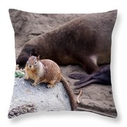 Neighborhood Get-together Throw Pillow