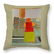 Neighborhood Shopping In Istanbul Throw Pillow