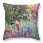 Neighboring Gardeners Throw Pillow