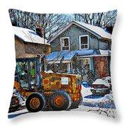 Neighbourhood Snowplough 2 Throw Pillow