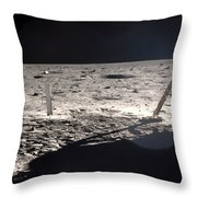 Neil Armstrong On The Moon - 1969 Throw Pillow