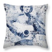 Neil Diamond Portrait Throw Pillow by Aged Pixel