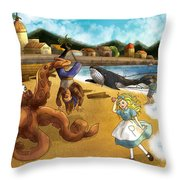 Nellie The Octopus Throw Pillow