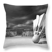 Nelson Akins Art Museum In Infrared Throw Pillow
