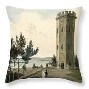 Nelsons Tower, Forres, From A Voyage Throw Pillow
