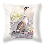Nene -hawaiian Goose Throw Pillow