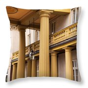 Neo Classical Columns Throw Pillow by Barbara McMahon
