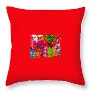 Neo-pointillism Throw Pillow
