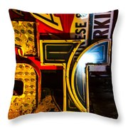 Neon 5 Throw Pillow