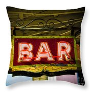 Neon Bar Throw Pillow