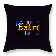 Neon Beer Sign - Extra Throw Pillow