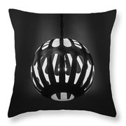 Neon Boneyard Light Throw Pillow