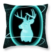 Neon Buck Throw Pillow