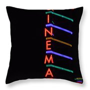 Neon Cinema Throw Pillow