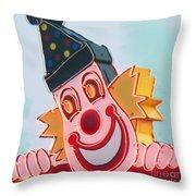 Neon Clown Throw Pillow