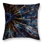 Neon Dandelion Throw Pillow