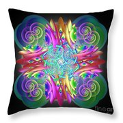 Neon Dreams Throw Pillow