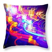 Neon Explosion Throw Pillow