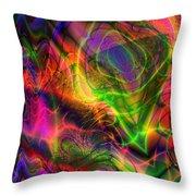 Neon Filigree Throw Pillow