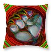 Neon Fist Throw Pillow