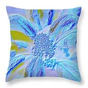 Neon Flora Throw Pillow