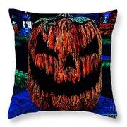 Neon Jack Throw Pillow