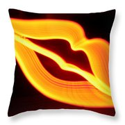 Neon Lips Throw Pillow