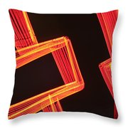 Neon Maze Throw Pillow