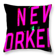 Neon New Yorker Throw Pillow